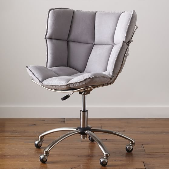 Glove Swivel Chair, Faux Suede Coffee
