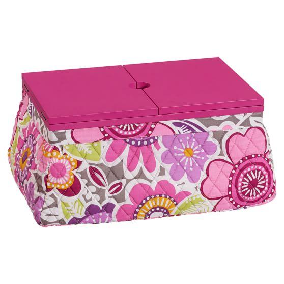 Manicure + Pedicure Lapdesk, Laura Floral, Pink Lid