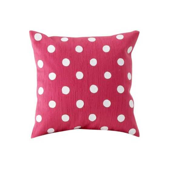 Dottie Pillow Cover, Pink Magenta, 16x16