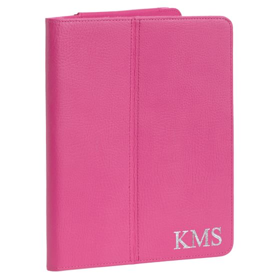 Girls Classic Leather Tablet Case, Pink