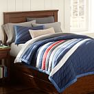 Harbor Stripe Surf Quilt, Twin