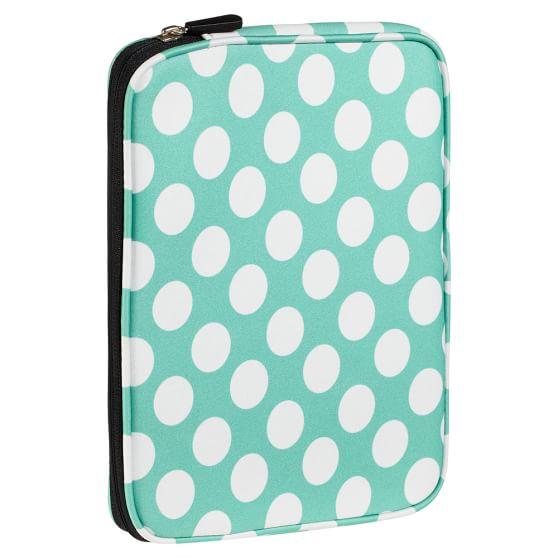 Lots Of Dots Tablet Case, Pool Dottie with Black Zip
