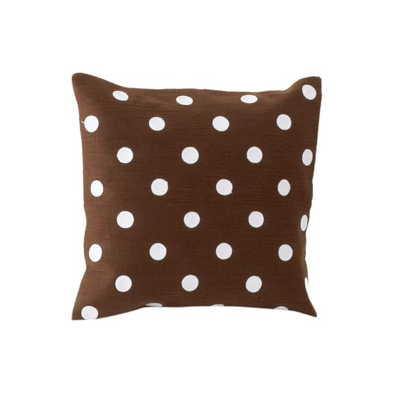 Dottie Pillow Cover, Coffee, 16x16