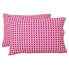 Rings Extra Pillowcases, Set of 2, Pink Magenta