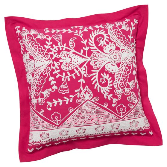 Natalia Pillow Cover, 18x18, Pink