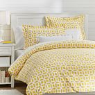 Peyton Duvet Cover, Twin, Yellow