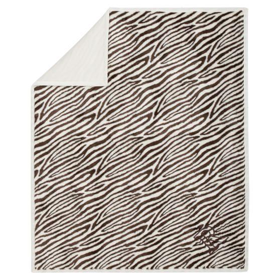 Faux Fur Throw, Zebra