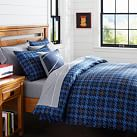 Houndstooth Duvet Cover, Twin, Navy