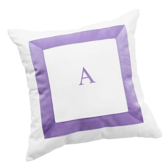Suite Ribbon Pillow Cover, Purple