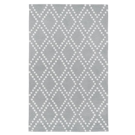 Trellis Rug, 3x5, Gray
