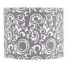 Design + Decorate Shades, Gray Paisley