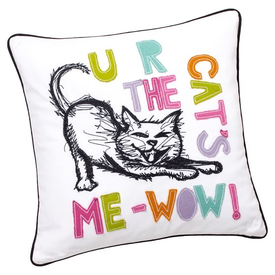 ASPCA Pet Pals Pillow Cover, 18x18, Cat