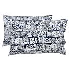 Tiki Surf Extra Pillowcases, Set of 2, Navy