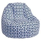 Peyton Navy Leanback Lounger, Single, Personalized