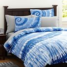 Surfers Point Tie Dye Duvet Cover, Twin, Navy Multi