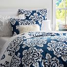 Ikat Medallion Duvet Cover, Twin, Royal Navy