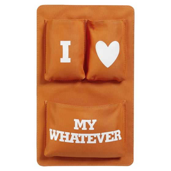 Gear-Up Locker Essentials Pocket, I Love My Whatever, Orange
