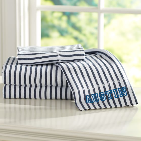 Simple Fav Tee Sheet Set, Full, Navy