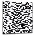 "Style Tile, Fabric-Covered Tackboard, includes 10 pushpins, 16""sq, Black Zebra"
