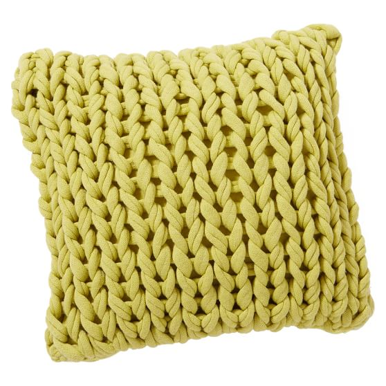 Braided Pillow Covers, 16x16, Braided Celery Green