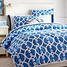 Totally Trellis Comforter, Twin, Palace Blue