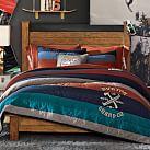 Burton Classic Stripes Quilt, Twin, Gray/Orange