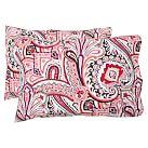 Vintage Paisley Extra Pillowcases, Set of 2, Warm