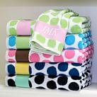 Painted Dot Hand Towel, Bright Pink