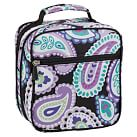 Gear Up Classic Lunch Bag, Paisley Black