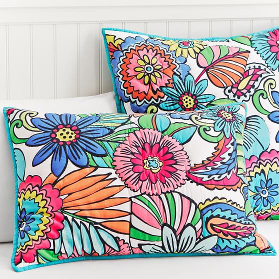 Beach Bloom Quilt, Standard Sham, Multi