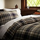 Cascade Plaid Duvet Cover, Twin, Black
