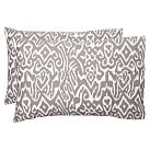 Urban Ikat Pillowcase, Standard, Set Of 2, Gray