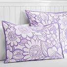 Blooming Garden Superpouf, Standard Sham, Purple