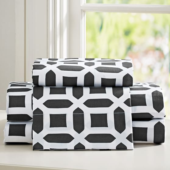 Peyton Sheet Set, Queen, Black