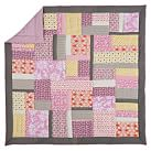 Flora Patchwork Quilt, Twin, Pink Multi