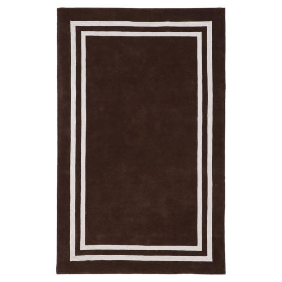 Decorator Border Rug, 3x5, Dark Coffee