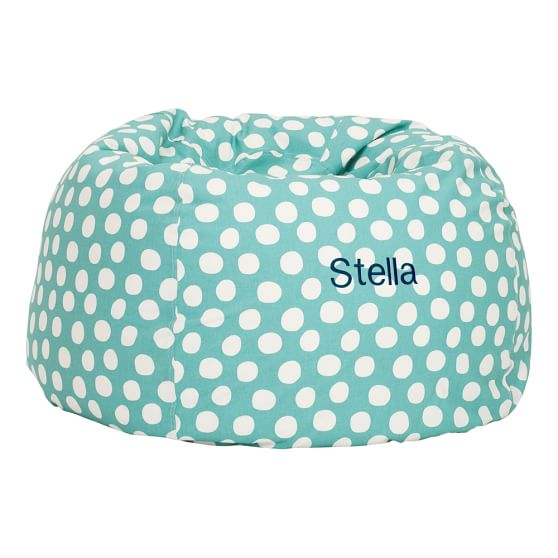 Pool Painted Dot Large Beanbag Slipcover + Beanbag Insert