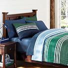 Beckett Stripe Quilt, Full/Queen, Multi Green