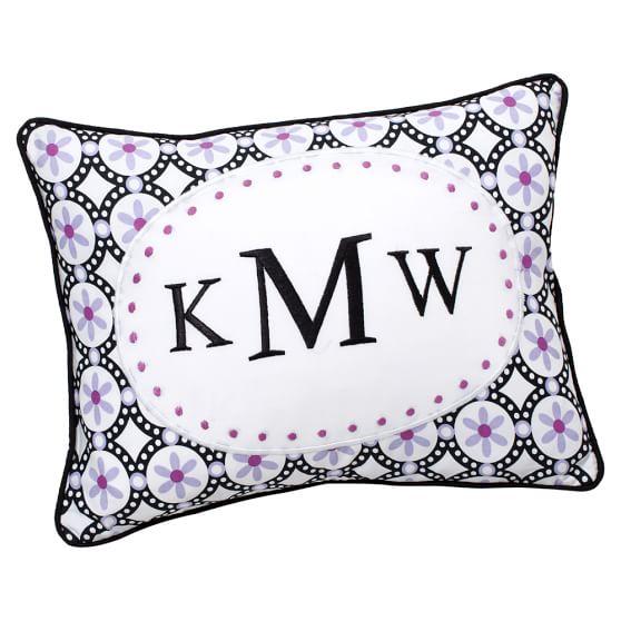 Pattern Pop Monogram Pillow Cover, 12x16, Boudoir