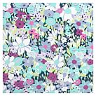 Fabric-Covered Tackboard, Cool Meadow Floral