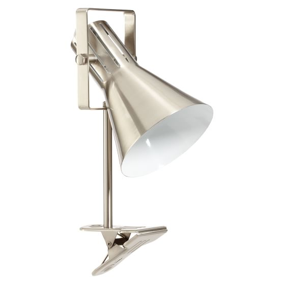 Colorful Clip Lamp, Nickel