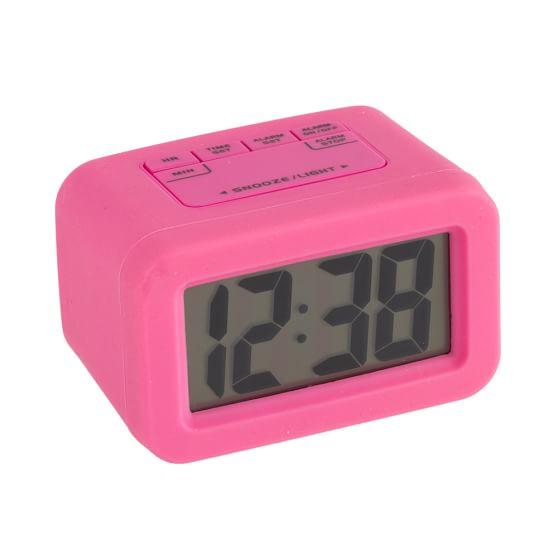 Bright Side Alarm Clock, Dark Pink