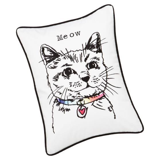 Watercolor Pet Pillow Cover, Cat
