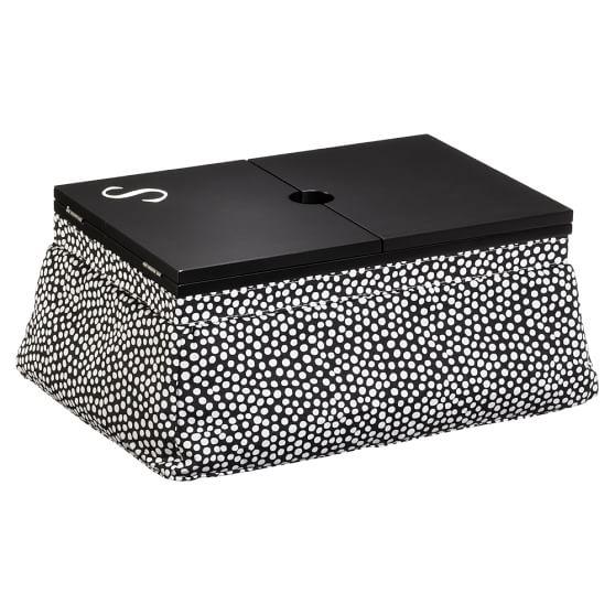 Beauty Mani/Pedi Lap Desk, Minidot Black