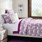 Gemma Floral Reversible Super Pouf Comforter, Twin XL, Plum