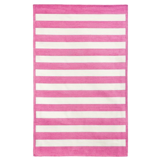 Capel Cottage Stripe Rug, Bright Pink, 3x5