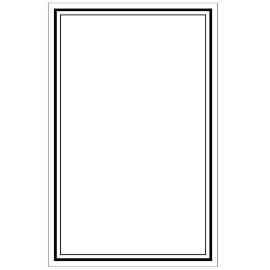 Dry-Erase Message Board Decal, White
