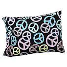 Peace Out Pillowcase, Standard, Black