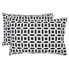 Peyton Extra Pillowcases, Set of 2, Black