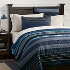 Laid Back Stripes Quilt + Sham, Twin, Multi
